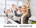 cheering business team... | Shutterstock . vector #519354739