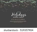 happy holiday background  new... | Shutterstock .eps vector #519357904