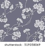 Stock vector floral background seamless vector pattern 519358069