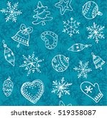christmas blue background.... | Shutterstock .eps vector #519358087