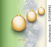 happy holidays background  new... | Shutterstock .eps vector #519358981