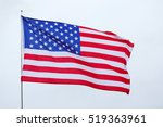 united states national flag on... | Shutterstock . vector #519363961