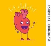 happy smiling heart logotype....   Shutterstock .eps vector #519368929
