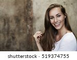 gorgeous smile on model ... | Shutterstock . vector #519374755