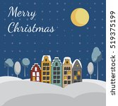 merry christmas and happy new... | Shutterstock .eps vector #519375199