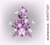 vector background with flowers...   Shutterstock .eps vector #519377107