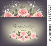 wedding card or invitation with ... | Shutterstock .eps vector #519377227