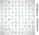 christmas icons set  isolated... | Shutterstock .eps vector #519380209