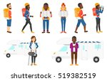 traveler man with backpack and... | Shutterstock .eps vector #519382519