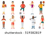 professional tennis player... | Shutterstock .eps vector #519382819