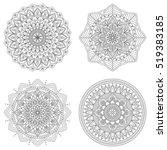 set of floral mandalas  vector... | Shutterstock .eps vector #519383185