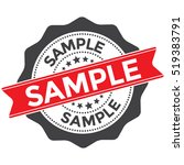 sample stamp  badge with red... | Shutterstock .eps vector #519383791