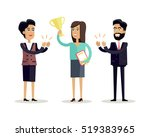 success concept vector in flat... | Shutterstock .eps vector #519383965