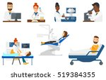 laboratory assistant working... | Shutterstock .eps vector #519384355
