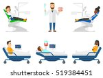 patient at dentist office.... | Shutterstock .eps vector #519384451