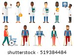 friendly doctor with... | Shutterstock .eps vector #519384484