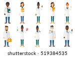 doctor in medical gown showing... | Shutterstock .eps vector #519384535