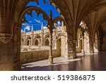 the jeronimos monastery  ... | Shutterstock . vector #519386875