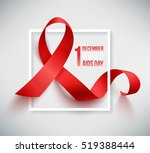 realistic red ribbon  world... | Shutterstock .eps vector #519388444