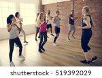 diversity people exercise class ... | Shutterstock . vector #519392029