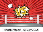 boxing ring corner with comic... | Shutterstock .eps vector #519392065