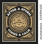 vintage design for labels.... | Shutterstock .eps vector #519394105