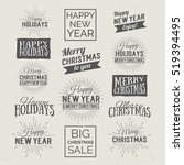 merry christmas and happy new... | Shutterstock .eps vector #519394495