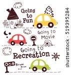 Cute Cars Doodle Cartoon