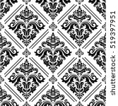 damask vector classic black and ... | Shutterstock .eps vector #519397951