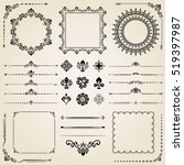 vintage set of classic elements.... | Shutterstock .eps vector #519397987