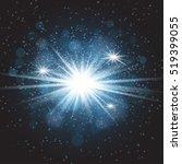 vector transparent sunlight... | Shutterstock .eps vector #519399055