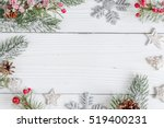 packaging christmas gifts on... | Shutterstock . vector #519400231