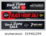 black friday sale banners | Shutterstock .eps vector #519401299