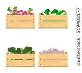 vector crate with fresh fruits...   Shutterstock .eps vector #519403177