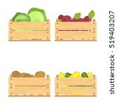 vector crate with fresh fruits... | Shutterstock .eps vector #519403207