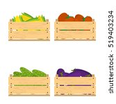 vector crate with fresh fruits... | Shutterstock .eps vector #519403234