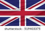 great britain waving flag | Shutterstock .eps vector #519403375