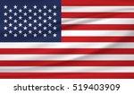 american flag   Shutterstock .eps vector #519403909