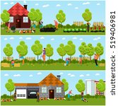 vector set of gardening ... | Shutterstock .eps vector #519406981