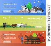 Vector Set Of Equestrian Sport...