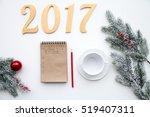 plans for new year on white... | Shutterstock . vector #519407311