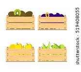 vector crate with fresh fruits. ... | Shutterstock .eps vector #519408055