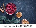 Frozen Cranberries  Snow  Fros...