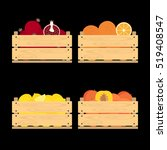 vector crate with fresh fruits. ... | Shutterstock .eps vector #519408547