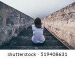 woman suffering from  fear ... | Shutterstock . vector #519408631