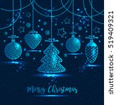 new year's greeting card merry... | Shutterstock .eps vector #519409321