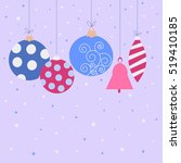 festive christmas card with a... | Shutterstock .eps vector #519410185