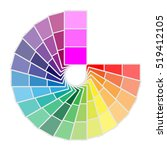 color palette icon isolated on
