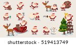 big set of cute santa claus.... | Shutterstock .eps vector #519413749