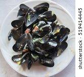 mussel stew | Shutterstock . vector #519414445